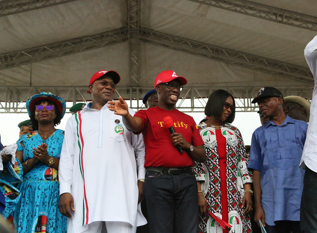 We don't discriminate in project execution — Okowa •Takes PDP campaign to Ogbe-Ijaw, Otor-Udu