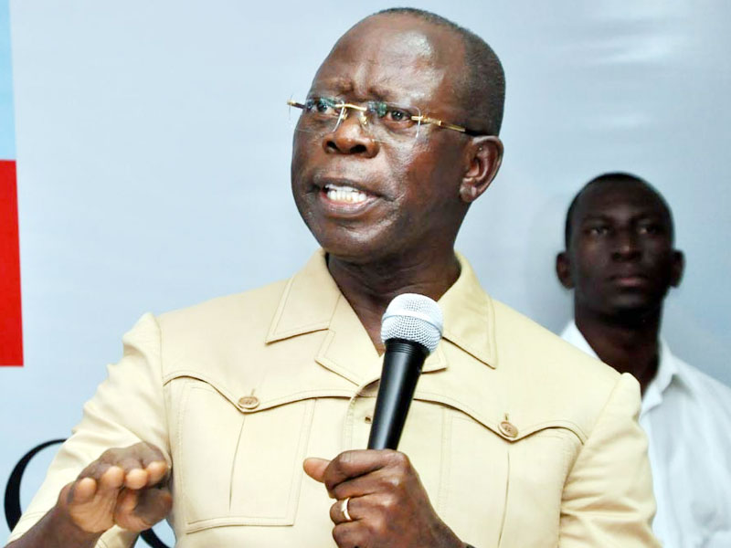 •APC national chairman, Adams Oshiomhole