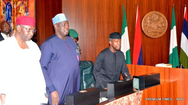 •Federal Executive Council in session, with Osinbajo presiding