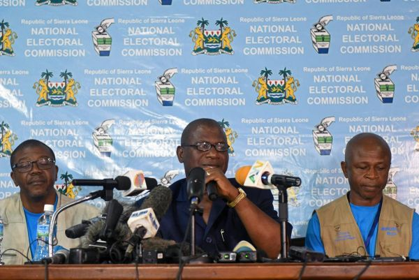 •Sierra Leone's National Electoral Commission Chairman Mohammed Nfa'ali Conteh