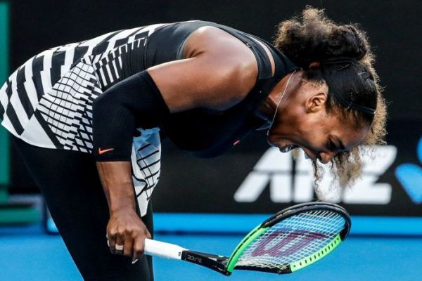 Serena Williams celebrating her 7th Australian Open triumph on Saturday in Melbourne.
