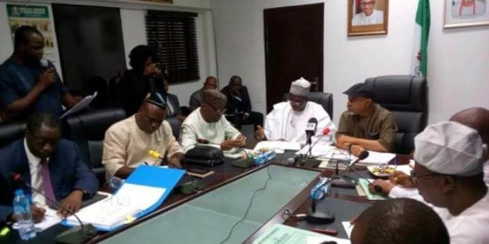 •Minister of Labour and Employment, Senator Chris Ngige, meets with ASUU leaders in Abuja on Decem