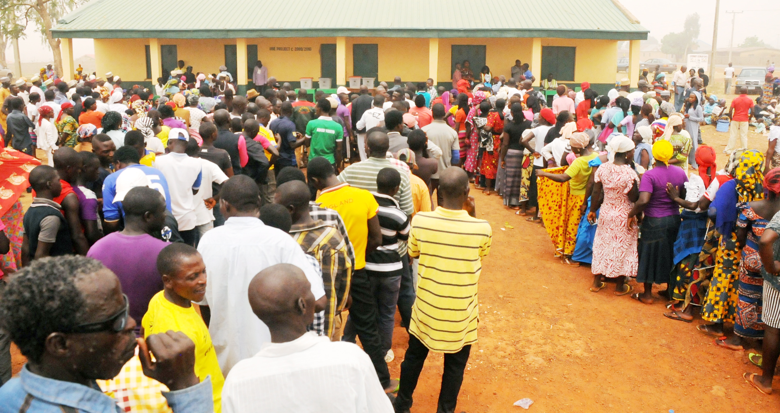 •Voters on the queue